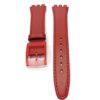 Curea compatibila ceasuri Swatch SW12, 17mm, rosie